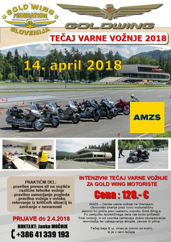 GOLD WING TEČAJ VARNE VOŽNJE 2018 @ Vransko | Žalec | Slovenija